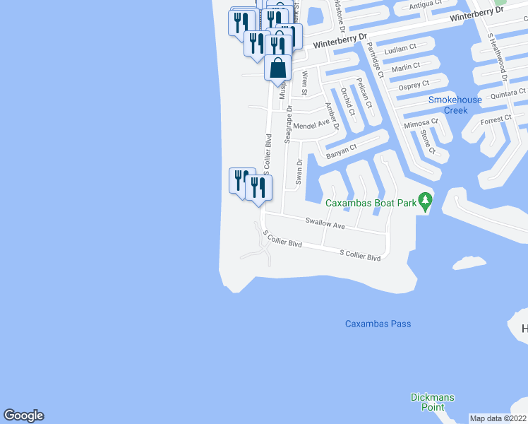 Map Of Marco Island Florida.S Collier Blvd Swallow Ave Marco Island Fl Walk Score