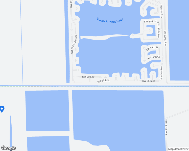 map of restaurants, bars, coffee shops, grocery stores, and more near 19279 Southwest 54th Street in Miramar