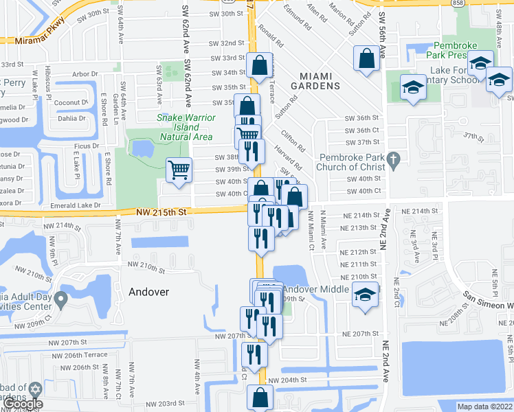 US   County Line Rd Miami Gardens FL Walk Score - Us 441 map