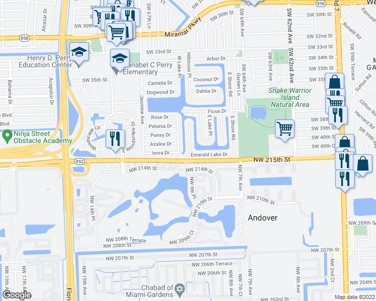 Map Of Miramar Florida.4016 South Lake Terrace Miramar Fl Walk Score