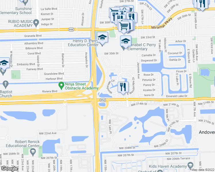 Map Of Miramar Florida.Woodscape Circle Miramar Fl Walk Score