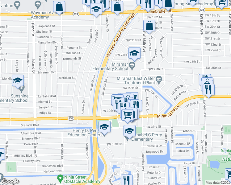 Miramar Florida Map.6981 Southwest 27th Court Miramar Fl Walk Score