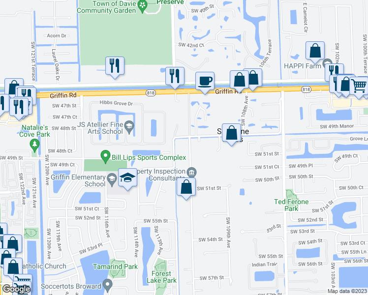 Davie Florida Map.4851 Southwest 111th Terrace Davie Fl Walk Score