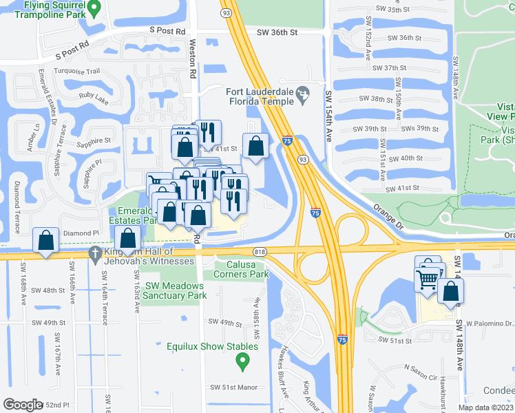 Davie Florida Map.15800 Rick Case Honda Way Davie Fl Walk Score