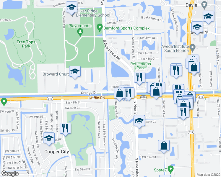 Davie Florida Map.8724 Blaze Court Davie Fl Walk Score