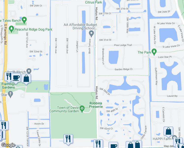 Davie Florida Map.3590 Birch Terrace Davie Fl Walk Score