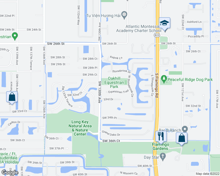 Davie Florida Map.12887 Equestrian Trail Davie Fl Walk Score