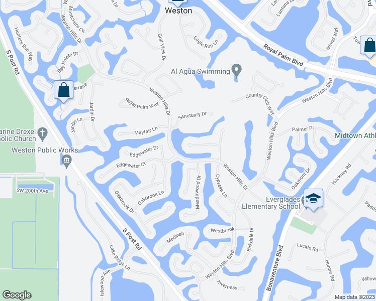 Weston Florida Map.2671 Riviera Manor Weston Fl Walk Score