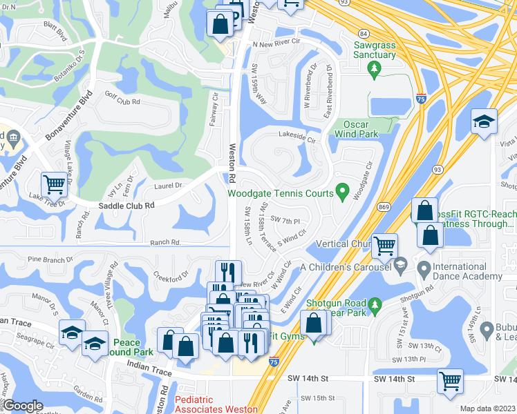 Map Of Sunrise Florida.701 Southwest 158th Terrace Sunrise Fl Walk Score