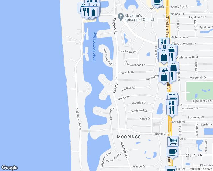 Map Naples Florida.250 Bahia Point Naples Fl Walk Score