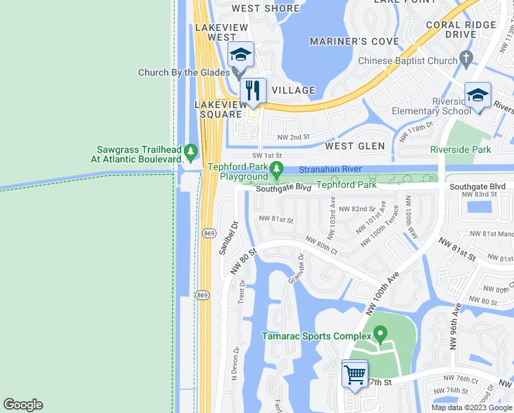 10707 Santa Monica Place, Tamarac FL - Walk Score