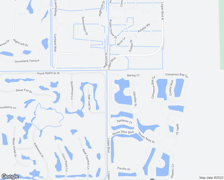 map of restaurants, bars, coffee shops, grocery stores, and more near 3804 Columbia Court in Naples