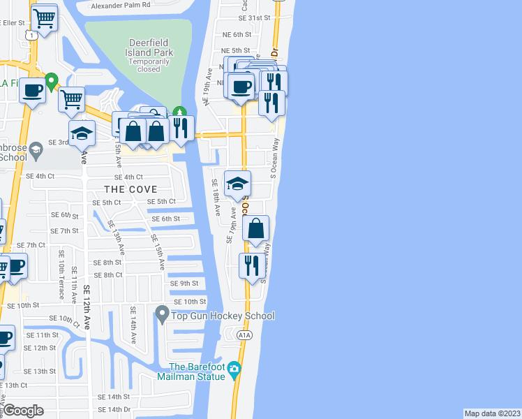 Deerfield Beach Florida Map.445 South Ocean Way Deerfield Beach Fl Walk Score