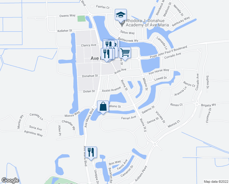 Ave Maria Florida Map.5222 Assisi Avenue Ave Maria Fl Walk Score