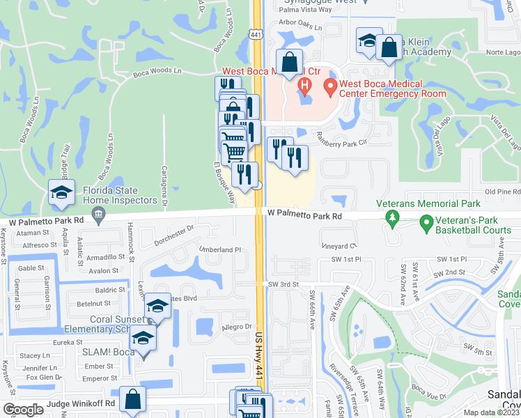 US   West Palmetto Park Road Boca Raton FL Walk Score - Us 441 map