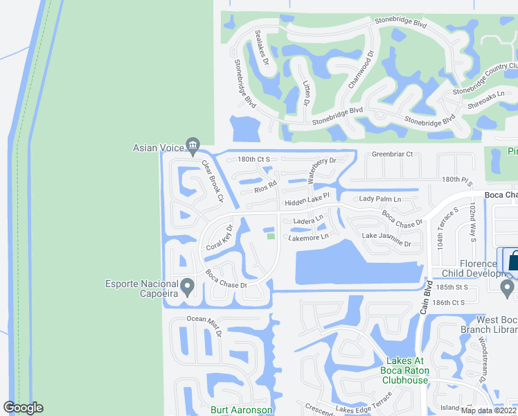 map of restaurants, bars, coffee shops, grocery stores, and more near 11118 Autoro Ct in Boca Raton
