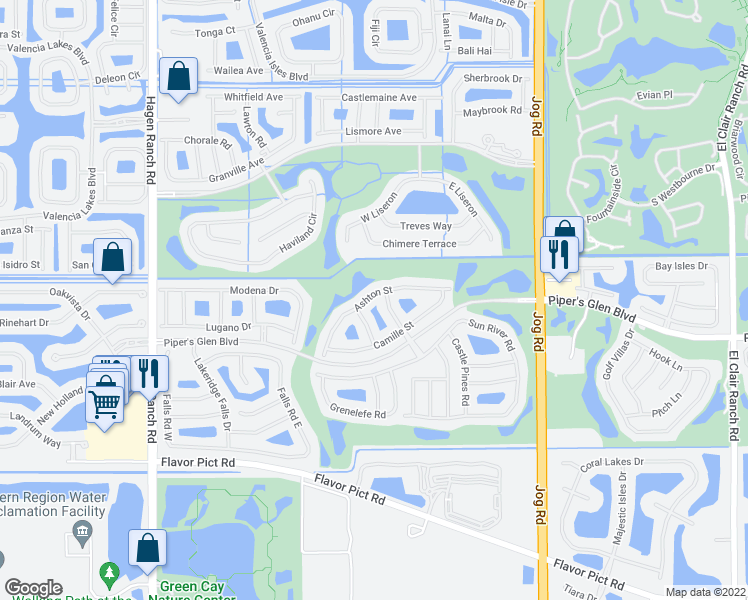 map of restaurants, bars, coffee shops, grocery stores, and more near 6948 Ashton Street in Boynton Beach