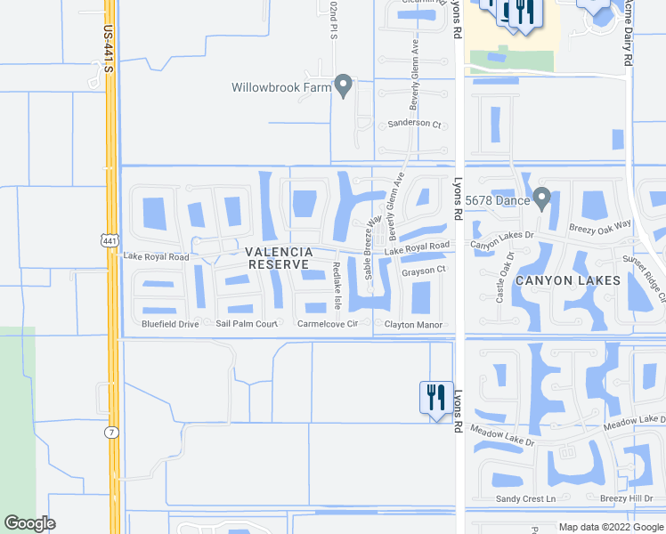 map of restaurants, bars, coffee shops, grocery stores, and more near 9356 Ivory Isle Road in Boynton Beach