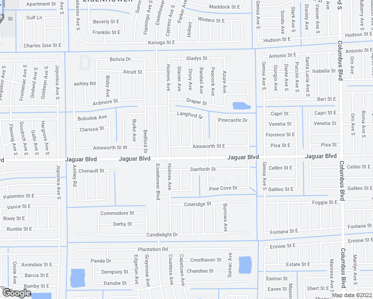 map of restaurants, bars, coffee shops, grocery stores, and more near 1026 Ainsworth Street East in Lehigh Acres