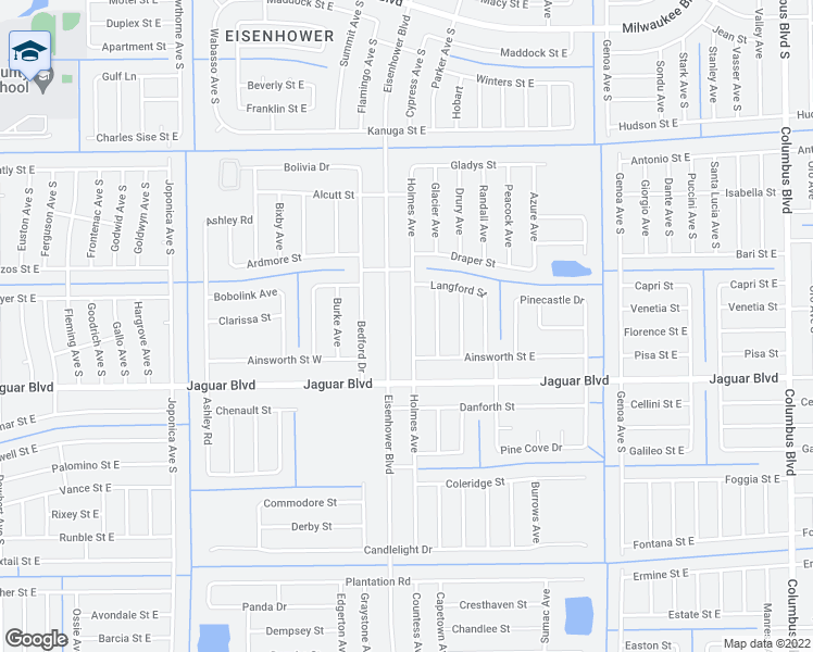 map of restaurants, bars, coffee shops, grocery stores, and more near 774 Holmes Avenue in Lehigh Acres
