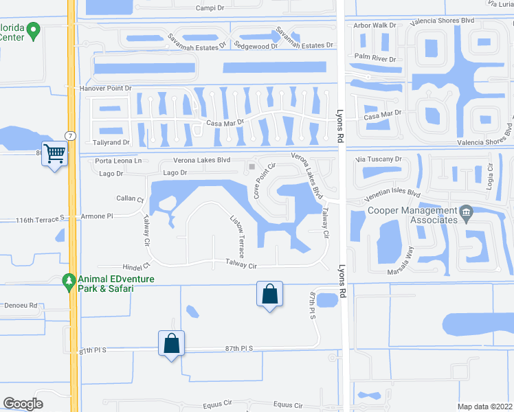 map of restaurants, bars, coffee shops, grocery stores, and more near 9204 Cove Point Circle in Boynton Beach