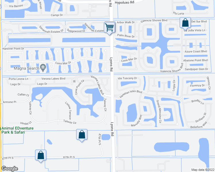 map of restaurants, bars, coffee shops, grocery stores, and more near 8084 Briantea Drive in Boynton Beach