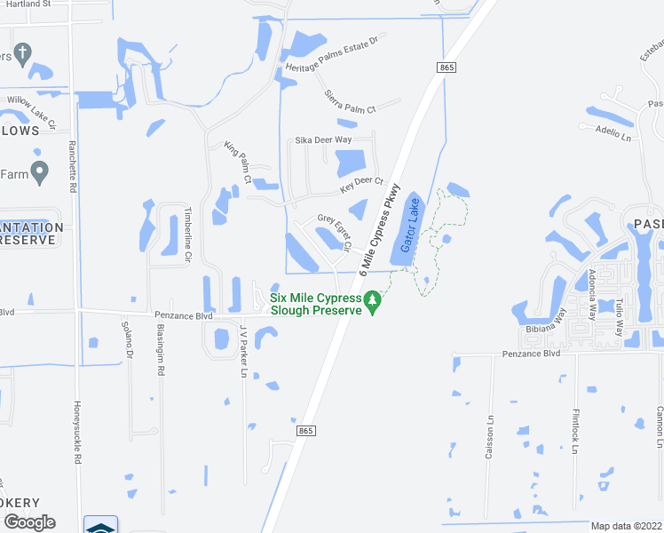 map of restaurants, bars, coffee shops, grocery stores, and more near Cypress Walk Drive in Fort Myers