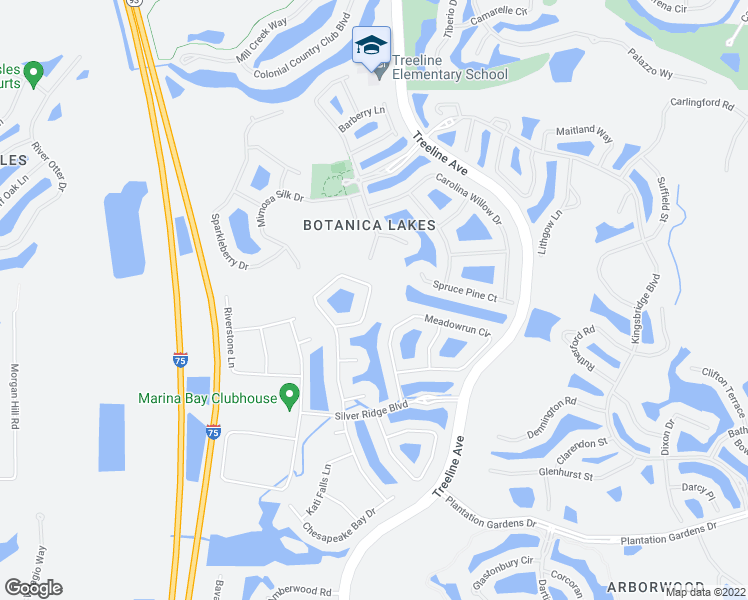 map of restaurants, bars, coffee shops, grocery stores, and more near 11548 Stonecreek Circle in Fort Myers
