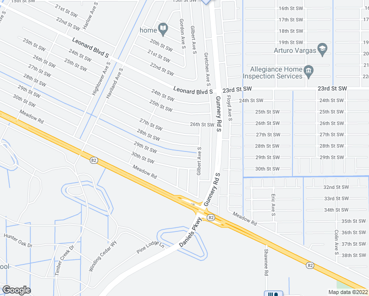 map of restaurants, bars, coffee shops, grocery stores, and more near 4413 28th Street Southwest in Lehigh Acres