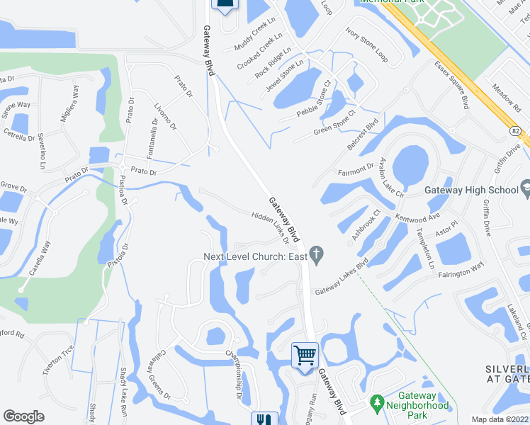 map of restaurants, bars, coffee shops, grocery stores, and more near 12093 Hidden Links Drive in Fort Myers