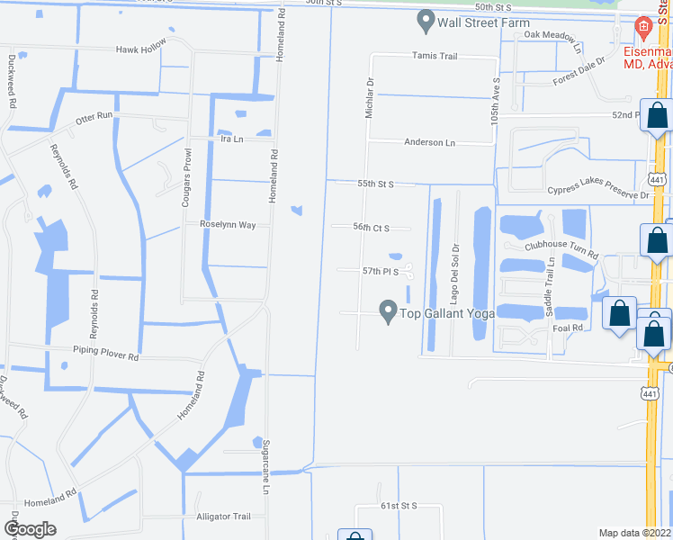 map of restaurants, bars, coffee shops, grocery stores, and more near 13159 57th Place South in Lake Worth