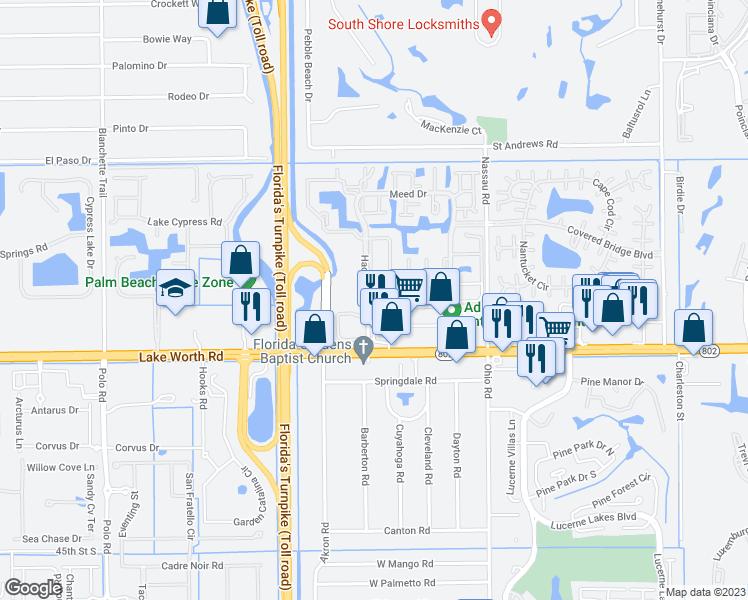 Lake Worth Florida Map.3865 Ace Road West Lake Worth Fl Walk Score