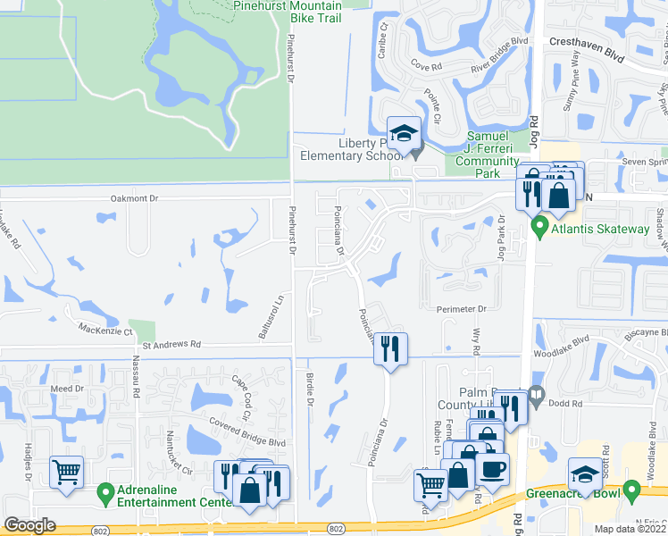map of restaurants, bars, coffee shops, grocery stores, and more near 7927 10th Avenue North in Lake Worth