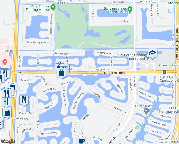 Wellington Florida Map.Forest Hill Blvd Olympia Blvd Wellington Fl Walk Score