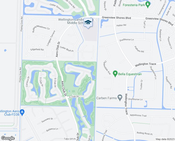 Map Of Wellington Florida.1670 South Club Drive Wellington Fl Walk Score