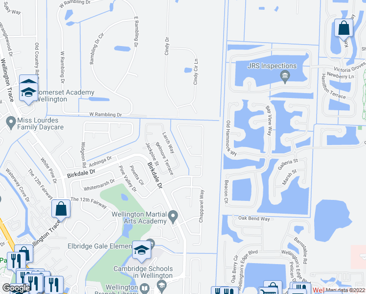 Map Of Wellington Florida.1056 Summerwood Circle Wellington Fl Walk Score