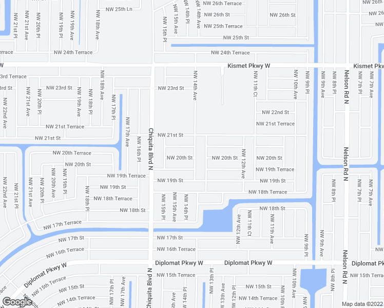 map of restaurants, bars, coffee shops, grocery stores, and more near 1411 Northwest 20th Street in Cape Coral