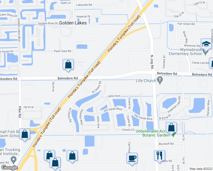map of restaurants, bars, coffee shops, grocery stores, and more near 900 Gazetta Way in West Palm Beach