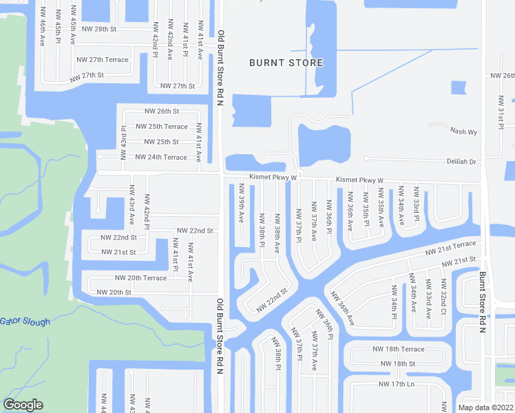 map of restaurants, bars, coffee shops, grocery stores, and more near 2352 Northwest 38th Place in Cape Coral
