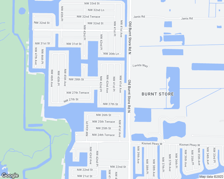 map of restaurants, bars, coffee shops, grocery stores, and more near 2730 Northwest 41st Place in Cape Coral
