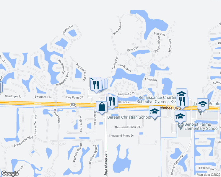 map of restaurants, bars, coffee shops, grocery stores, and more near 8885 Okeechobee Boulevard in West Palm Beach