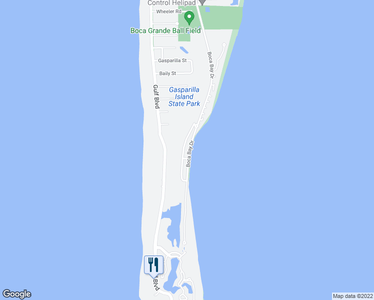 map of restaurants, bars, coffee shops, grocery stores, and more near 541 Buttonwood Bay Drive in Boca Grande