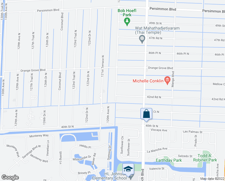 map of restaurants, bars, coffee shops, grocery stores, and more near 4303 120th Ave N in West Palm Beach
