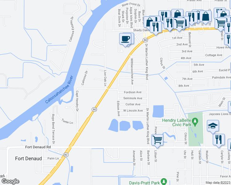 Labelle Florida Map.1011 James Singleton Place Labelle Fl Walk Score
