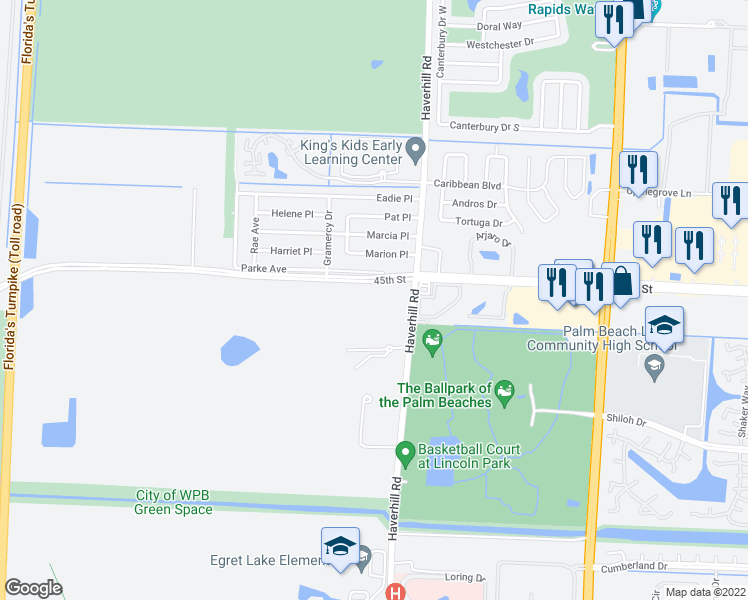 5860 45th Street, West Palm Beach FL - Walk Score Map Of W Palm Beach on map of palm bay, map of palm beach gardens, map of palm springs, map of palm harbor, map of palm coast,