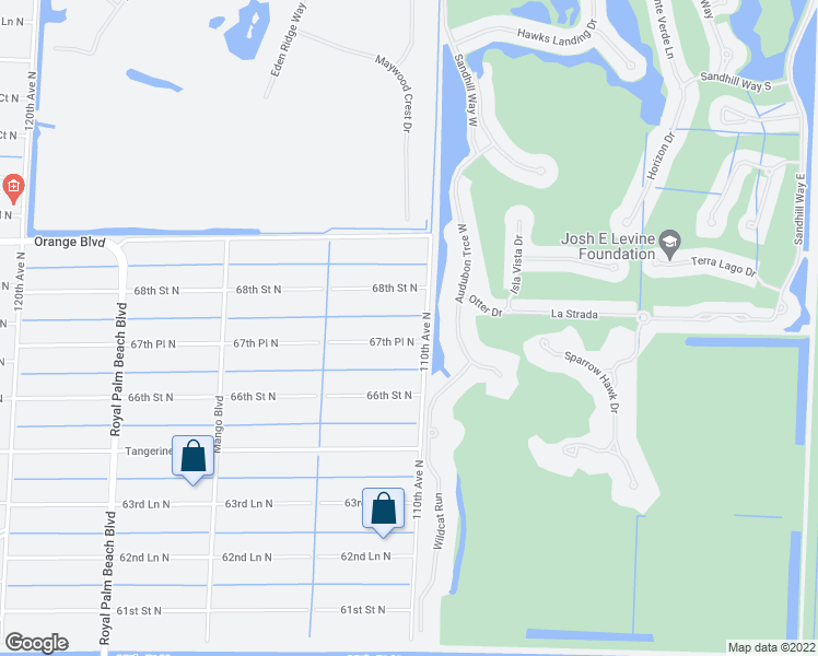 map of restaurants, bars, coffee shops, grocery stores, and more near 11065 67th Place North in West Palm Beach