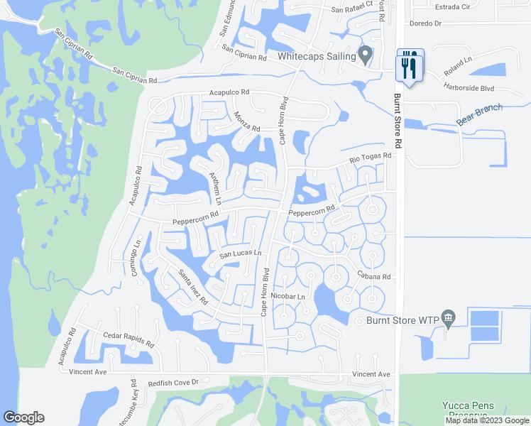 Map Of Punta Gorda Florida.24275 Peppercorn Road Punta Gorda Fl Walk Score