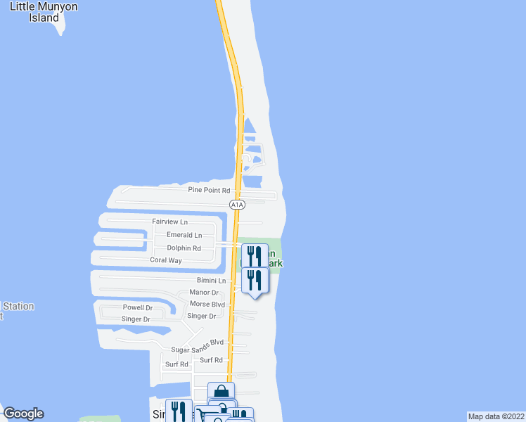 map of restaurants, bars, coffee shops, grocery stores, and more near 3972 North Ocean Drive in West Palm Beach