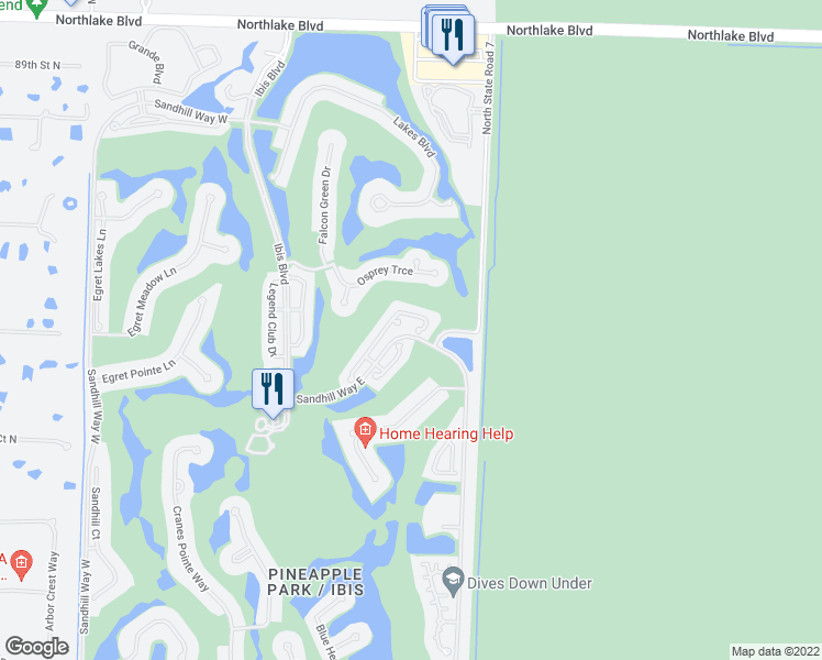 map of restaurants, bars, coffee shops, grocery stores, and more near 8506 Quail Meadow Way in West Palm Beach