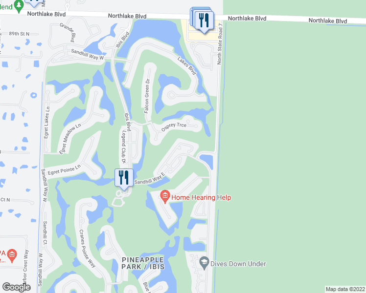 map of restaurants, bars, coffee shops, grocery stores, and more near 8396 Quail Meadow Way in West Palm Beach